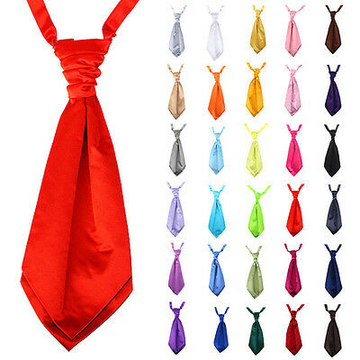 Adult Italian Satin Wedding Party Ruche Cravat Scrunchie Tie Men Formal Wear 5.5
