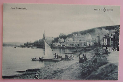RELIABLE SERIES Postcard c.1910 BEACH SCENE PORT BANNATYNE BUTE SCOTLAND