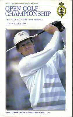 1986  Open  Golf  Championship  (Official  Programme)    With  Course  Map....