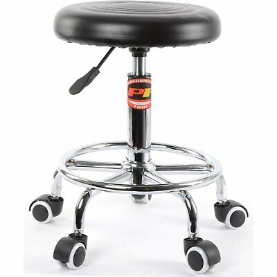 JEGS Performance Products W85027 Rolling Stool Pneumatic Height: 19 to 24 Padded