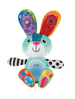 LC27328 Lamaze Sonny the Glowing Bunny Toy with Light Up Tummy Baby Infant 9m+