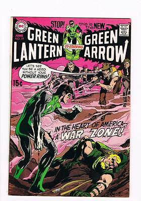 Green Lantern # 77  A War Zone !  Neal Adams art grade 8.0 scarce hot book !!