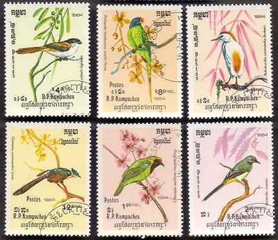 CAMBODIA/KAMPUCHEA (05/1) 1984 Birds Parrots 6 Diff. Stamps ! Gift Children !