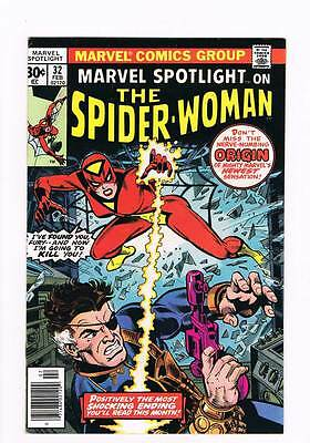 Marvel Spotlight # 32  1st appearance of Spider-Woman !  grade 8.0 scarce book !
