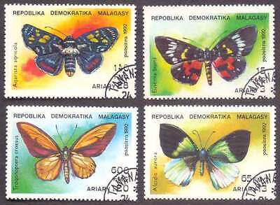 MALAGASY/MADAGASCAR (04/1) 1992 Butterfly 4 Diff. Stamps ! Gift Children !
