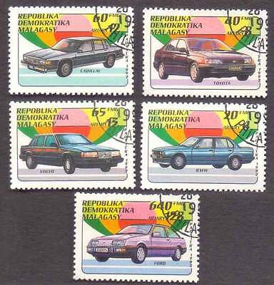 MALAGASY/MADAGASCAR (05/1) 1992 Vintage Auto Cars 5 Diff. Stamps !