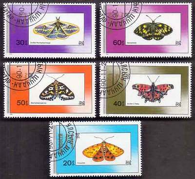 MONGOLIA (13/1) 1990 Butterfly/Moth 5 Diff. Stamps ! Gift Your Children !