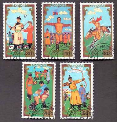 MONGOLIA (43/1) 1988 Local/Rural Games Sports 5 Diff. Stamps ! Gift Children !