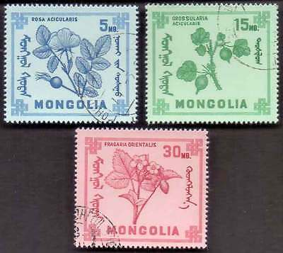 MONGOLIA (19/1) Flowers 3 Diff. Stamps ! Gift Your Children !