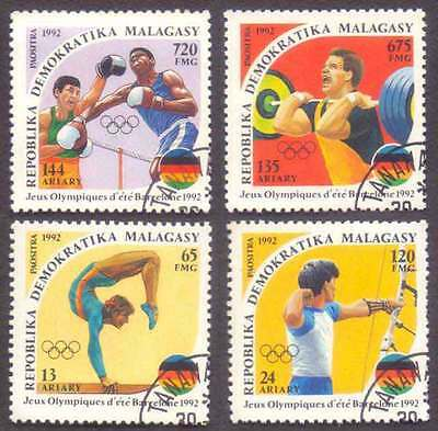 MALAGASY/MADAGASCAR (12/1) 1992 Olympic Games 4 Diff. Stamps ! Gift Children !