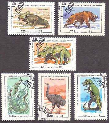 MALAGASY/MADAGASCAR (13/1) 1994 Dinosaur Pre-Historical Animals 6 Diff. Stamps !
