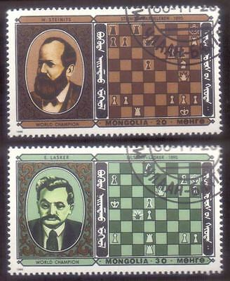 MONGOLIA (46/1) 1986 Chess Sports 2 Diff. Stamps ! Gift Your Children !