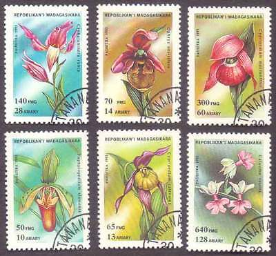 MALAGASY/MADAGASCAR (08/1) 1993 Flowers 6 Diff. Stamps ! Gift Children !