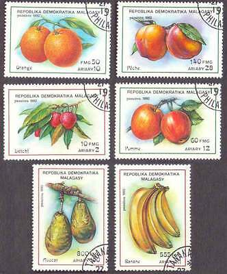 MALAGASY/MADAGASCAR (09/1) 1992 Fruits Banana 6 Diff. Stamps ! Gift Children !