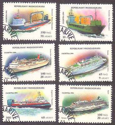 MALAGASY/MADAGASCAR (15/1) 1994 Ships Transports 6 Diff. Stamps !