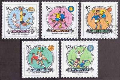 MONGOLIA (23/1) 1982 World Cup Footballs Sports 5 Diff. Stamps ! Gift Children !