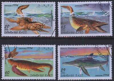 SAHARA (13/1) 1994 Pre-Historical Animals Used 4 diff. Stamps ! Gift Children !