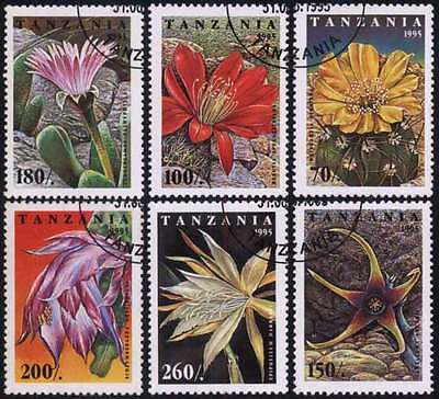 TANZANIA (21/1) 1995 Flowers Cactus Used 6 different Stamps ! Gift Children !