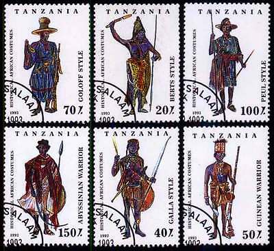 TANZANIA (27/1) 1993 Native Costumes Used 6 different Stamps ! Gift Children !