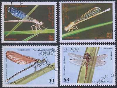 SAHARA (20/1) 1995 Insects Dragonfly Used 4 diff. Stamps ! Gift Your Children !