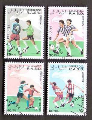 SAHARA (14/1) 1994 World Cup Football Used 4 diff. Stamps ! Gift Your Children!