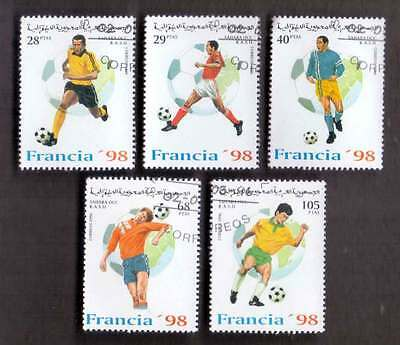 SAHARA (32/1) 1996 World Cup Football Used 5 diff. Stamps ! Gift Your Children!