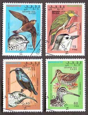 SAHARA (02/1) 1993 Beautiful Birds Used 4 diff. Stamps ! Gift Your Children !