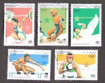 SAHARA (21/1) 1995 Olympic Games Sports Used 5 diff. Stamps ! Gift Children !
