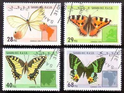 SAHARA (39/1) 1994 Butterfly Used 4 diff. Stamps ! Gift Your Children !