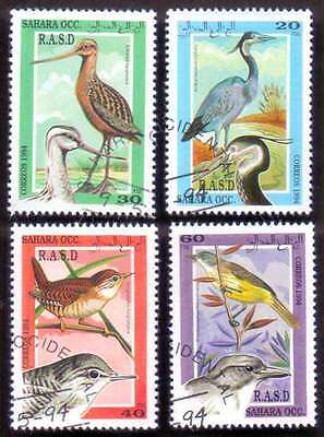 SAHARA (40/1) 1994 Beautiful Birds Used 4 diff. Stamps ! Gift Your Children !