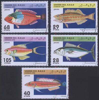 SAHARA (22/1) 1995 Sea Fishes Used 5 diff. Stamps ! Gift Your Children !