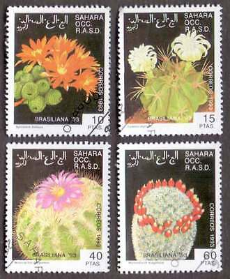 SAHARA (04/1) 1993 Cactus Flowers Used 4 diff. Stamps ! Gift Your Children !