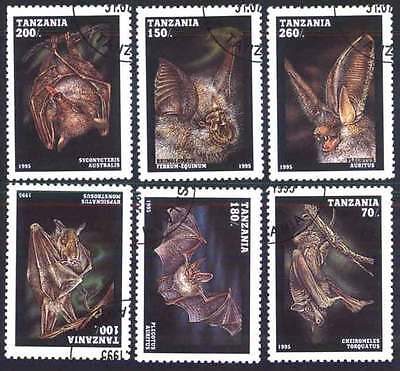 TANZANIA (19/1) 1995 Bats Birds used 6 different Stamps ! Gift Your Children !
