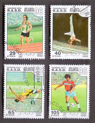 SAHARA (11/1) 1994 Olympic Games Sports Used 4 diff. Stamps ! Gift Children !