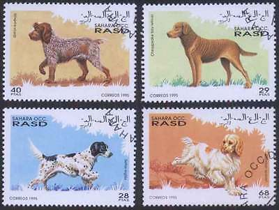 SAHARA (17/1) 1995 Dogs Domestic Animal Used 4 diff. Stamps ! Gift Children !