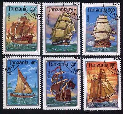 TANZANIA (13/1) 1994 Boat & Ship Used 6 different Stamps ! Gift Your Children!