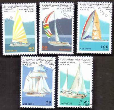 SAHARA (41/1) 1996 Ships & Boats Used 5 diff. Stamps ! Gift Your Children !