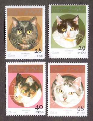 SAHARA (18/1) 1995 Domestic Cats Animals Used 4 diff. Stamps ! Gift Children!