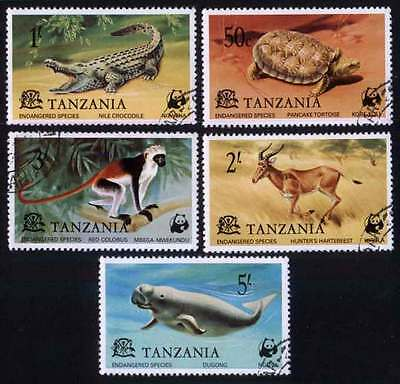 TANZANIA (01/1) 1977 Endangered Animals Used 5 diff. Stamps ! Gift Children !