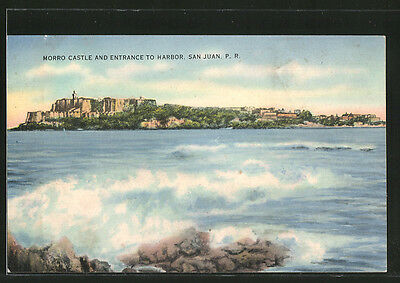 alte AK San Juan, Morro Castle and Entrance to Harbor