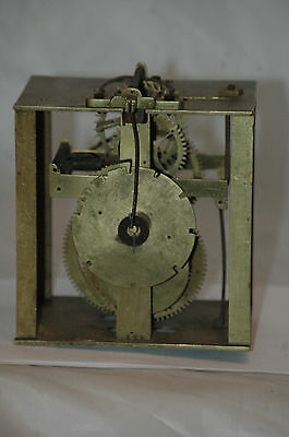 Antique Brass Wall Clock Mechanism For Spares.