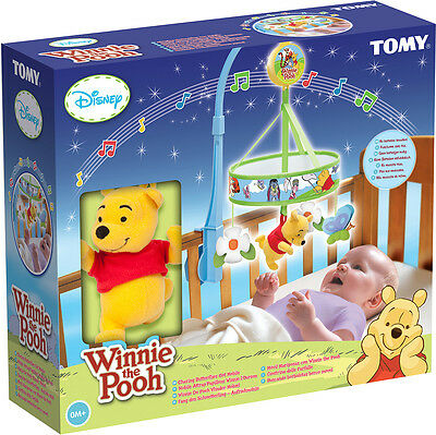 T72126 Winnie the Pooh Chasing Butterflies Wind Up Cot Mobile Disney Baby 0m+