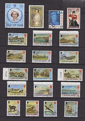 Isle Of Man Used Stamps Mix, Includes High Values
