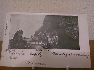 Early Picture Postcard Kennedy's Pass, Girvan, Scotland (Used) 1903