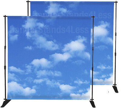 2 PACK 8x8 Step and Repeat Banner Stand Backdrop Display Wholesale Adjustable
