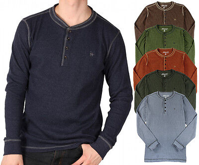 Knights of the Round Table NEW Mens Waffle Knit Long Sleeve Henley Shirt
