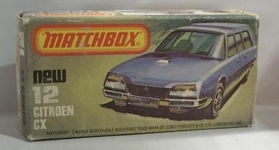 Repro Box Matchbox Superfast Nr.12 Citroen CX