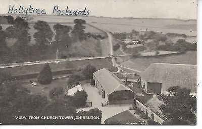 View from church Tower Chisledon showing LMSW Railway  Wiltshire