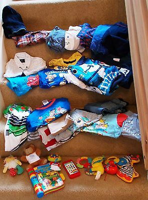 Joblot / Job Lot Of Boys Clothing & Toys ~ Age Up To 2 Years ~ 34 Items In Total