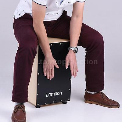 ammoon Wooden Cajon Box Drum Hand Drum Birch Wood with Bag for Adults V7S5